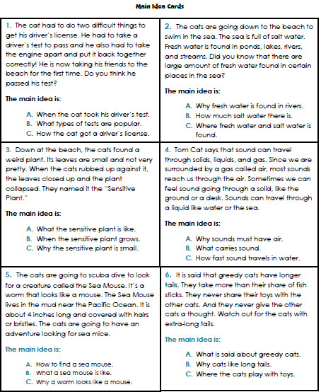 Main Idea Worksheets 3rd Grade 1