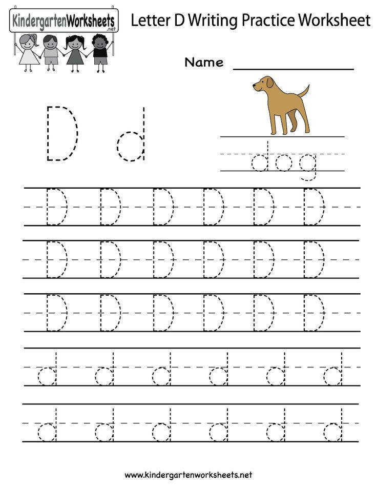 Easily print our letter D writing practice worksheet right in your browser It is a free kindergarten English worksheet