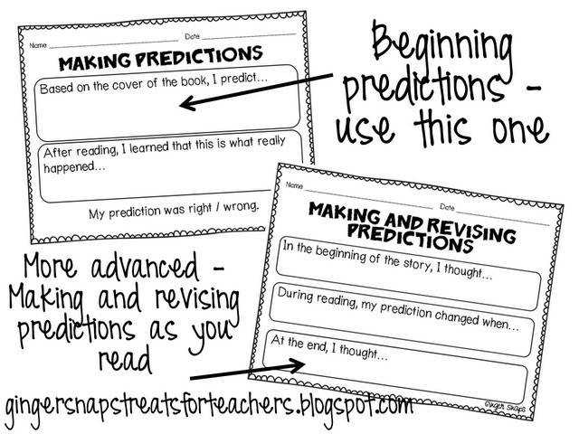 Making predictions worksheet helps students to stay actively engaged throughout the reading process Great
