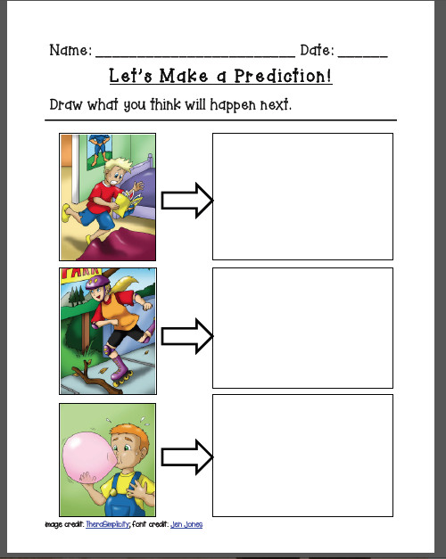I also made two worksheets for my kiddos who are working on cause and effect and or making predictions Using the search feature in the sequencing boards