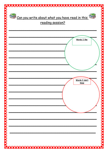 Independent reading worksheet Year 3