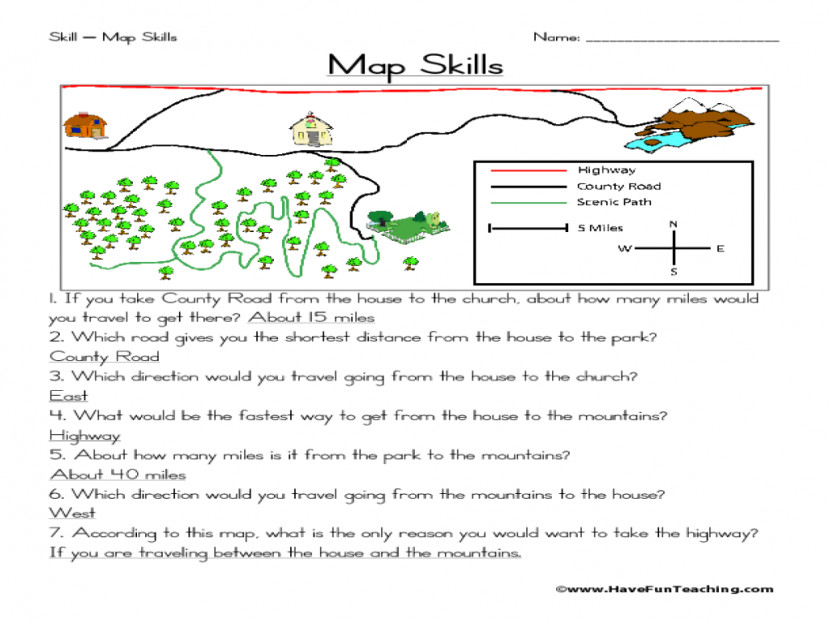 Map Skills Worksheets Lesson Plans 3rd Gra