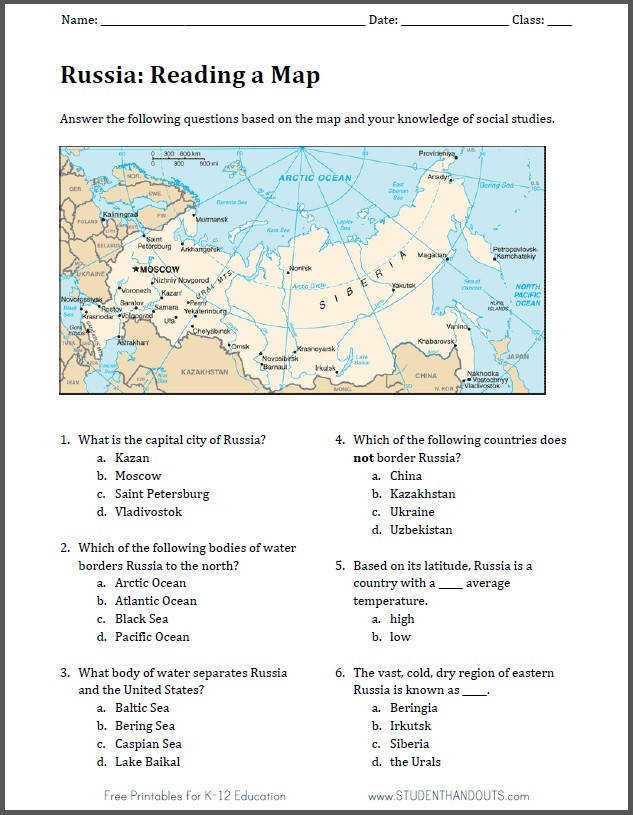 Geography of India Map Worksheet Free to print PDF file Description from