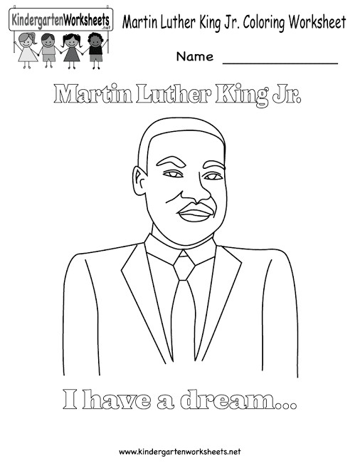 Martin Luther King Worksheets First Grade Free Intrepidpath