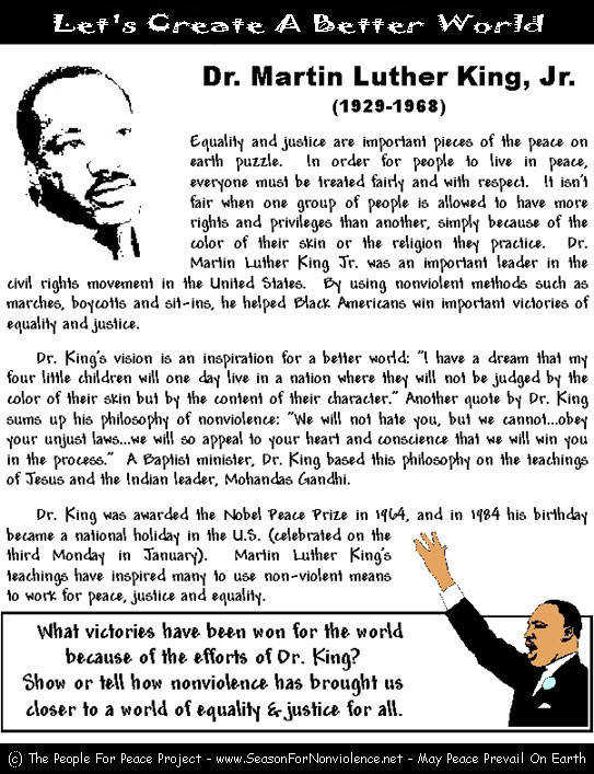martin luther king jr 4 essay You may find it strange that a young woman from south africa is writing an essay about how dr martin luther king jr influenced my life this, however, is the power and magic of the life and words of this great man - his influence extended around the.