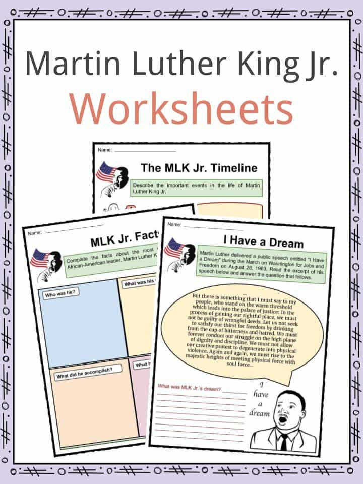 Download the Martin Luther King Jr Facts & Worksheets