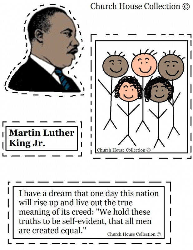 Collection of Free Printable Martin Luther King Jr Worksheets