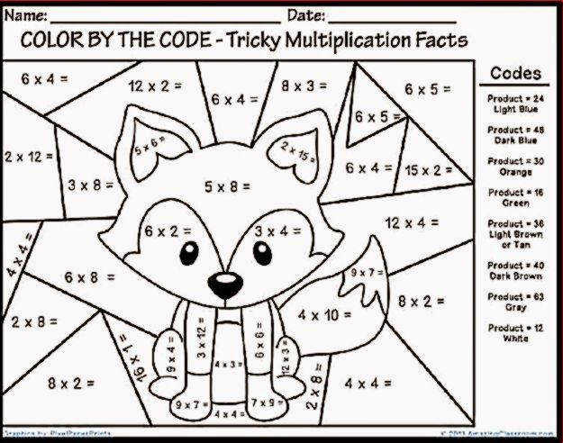 Color By Number Addition Worksheets Grade With Worksheetsfree Math Coloring Pages Middle School Free Color By Number