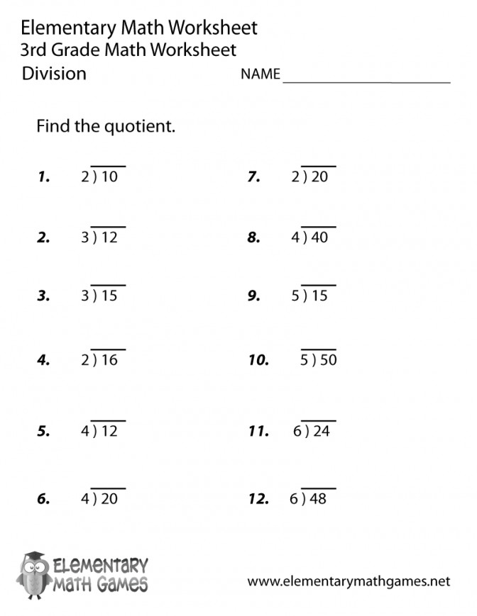Third Grade Division Worksheet Math Decimal Multiplication And Worksheets 3rd Prin Math Multiplication And Division Worksheets