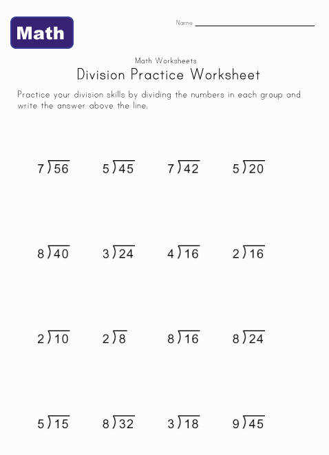 Help teach kids with the simple division problems in this collection of printable worksheets Find lots of division worksheets and other math