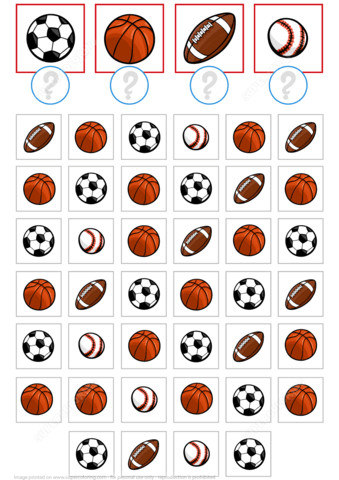 to see printable version of Count Sport Balls Math Puzzle Worksheet Puzzle game