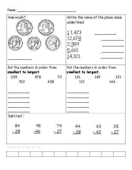 Math Review Worksheets