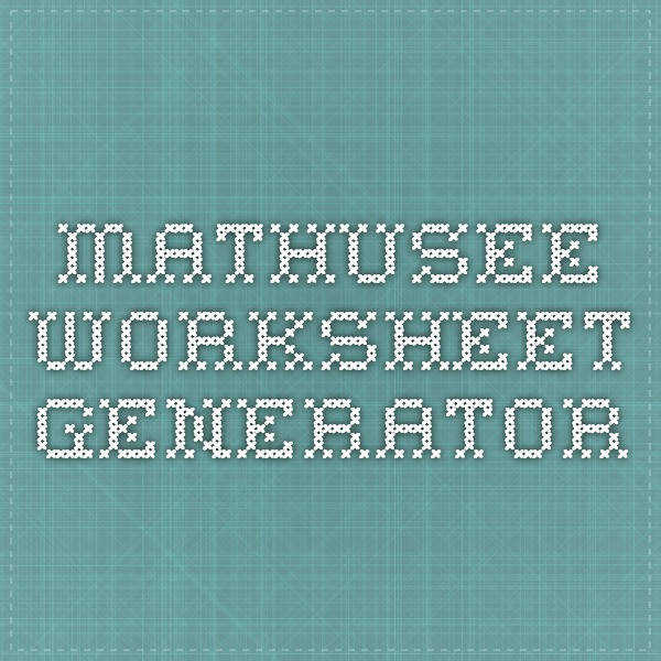 mathusee worksheet generator
