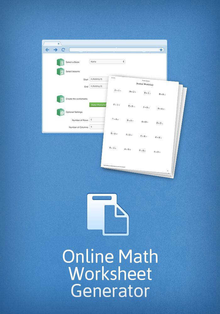 Create worksheets for your math students with Math U See s online worksheet generator
