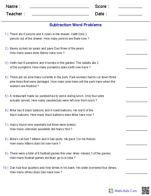 These Word Problems Worksheets are perfect for practicing solving and working with different types of word problems