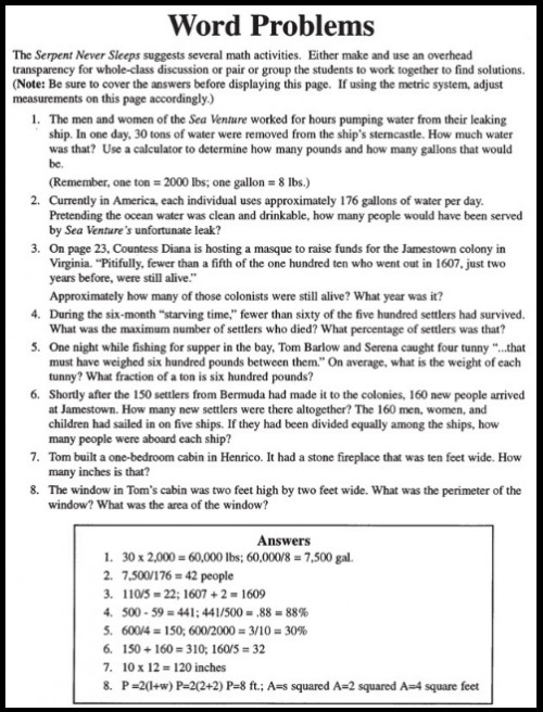 8th Grade Math Worksheets Printable with Answers
