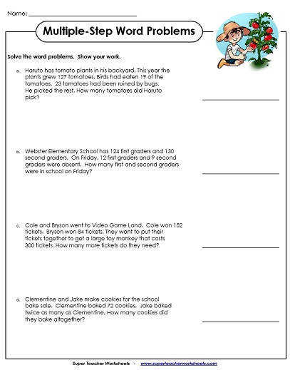 Word Problem Worksheets