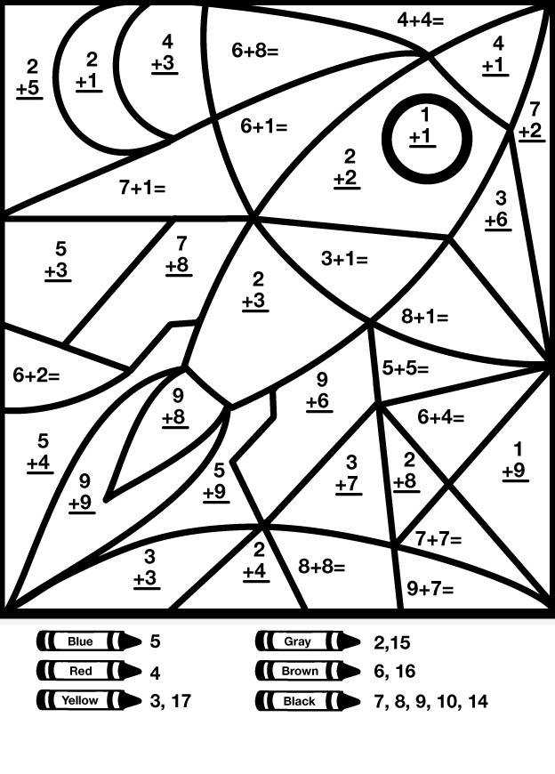 Coloring Page Printable First Grade Math Coloring Worksheets At 1St Grade Coloring Math Worksheets