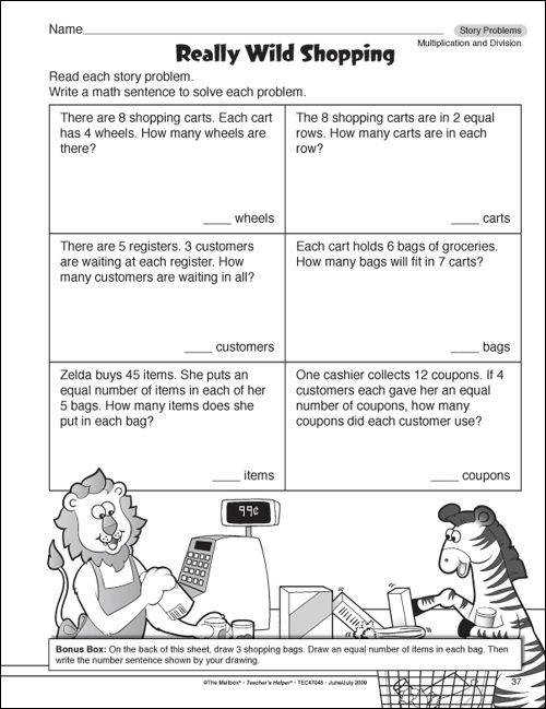 4th Grade Math Practice Worksheet Printableml Math Pinterest