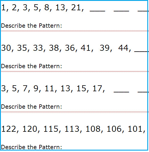 Free Worksheets plete the pattern worksheets 4th grade Pattern Worksheets picture pattern worksheets for