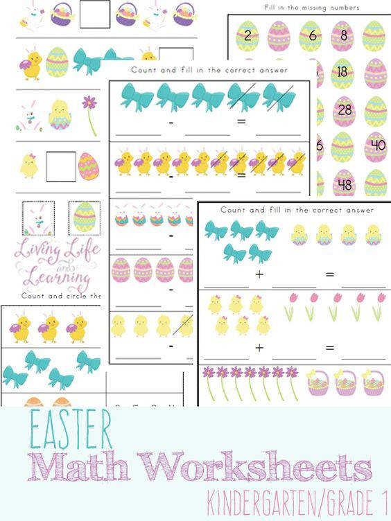 Free Easter Kindergarten Math