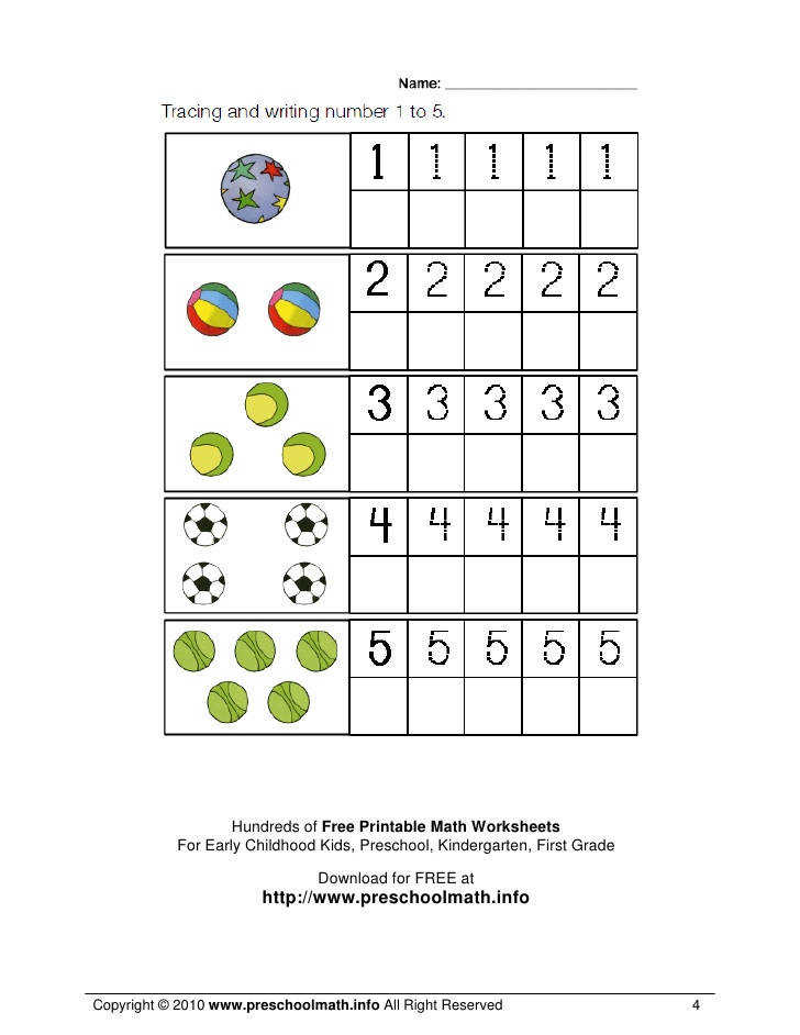 4 Hundreds of Free Printable Math Worksheets