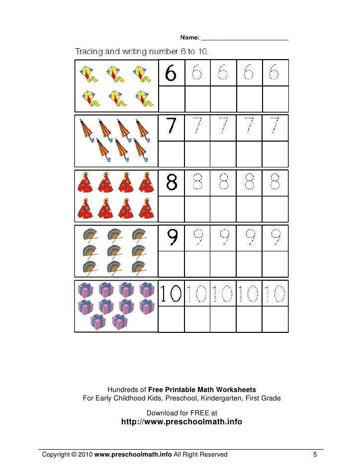 5 Hundreds of Free Printable Math Worksheets