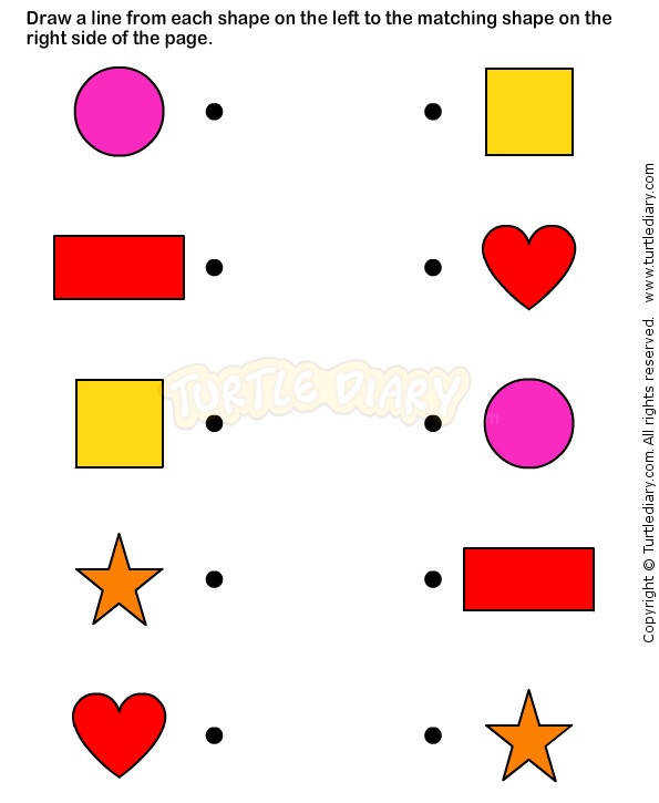 Shapes5 math Worksheets preschool Worksheets
