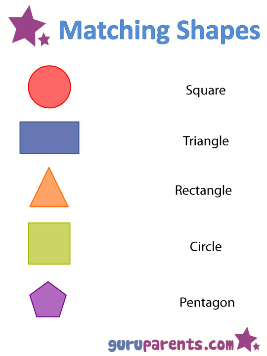 Matching shapes worksheet 1