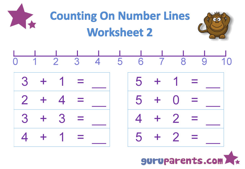 Number Line Worksheet Number Line Worksheet