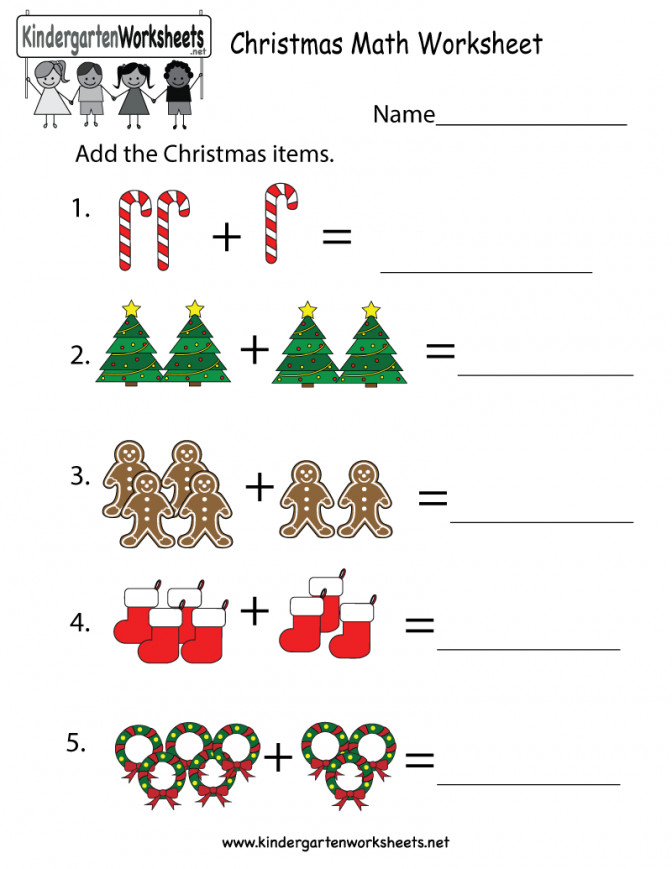 Free Printable Christmas Math Worksheet For Kindergarten Maths Works Maths Worksheets For Preschoolers Worksheet Medium
