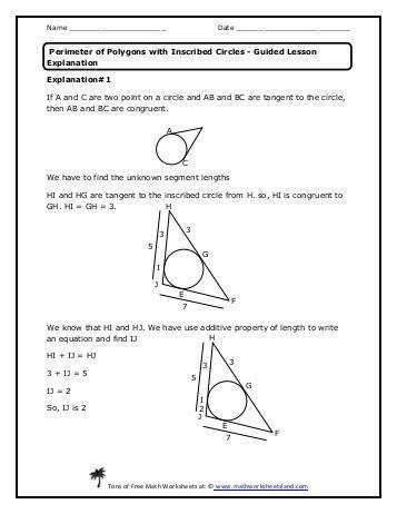 Guided Lesson Explanation Math Worksheets Land