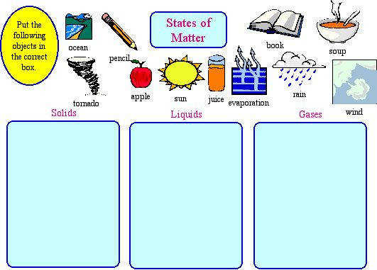 Awesome Collection of First Grade Matter Worksheets For Your Format