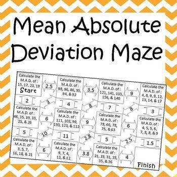 Peterson John Mr Peterson s Web Page · Statistics Worksheets · Mean Absolute Deviation Maze