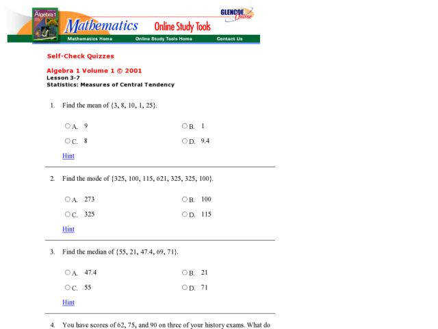 Collection of Solutions Measures Central Tendency Worksheets Also Sample