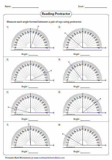 This page contains exclusive worksheets on measuring angles reading protractor estimating angles and more