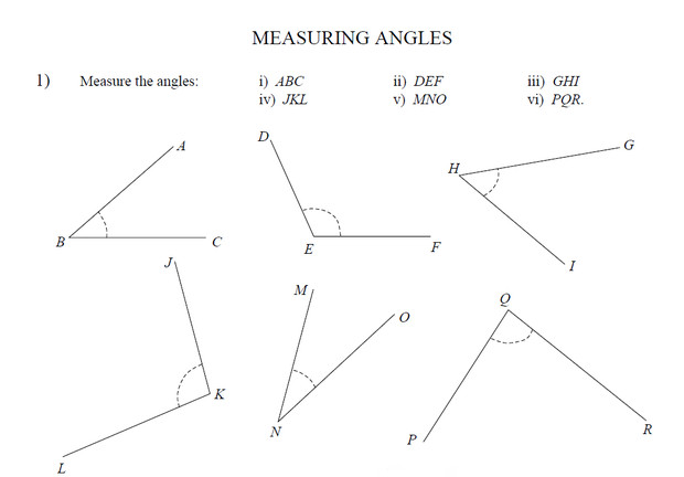 Measuring Angles Worksheet Answers Gozoneguide