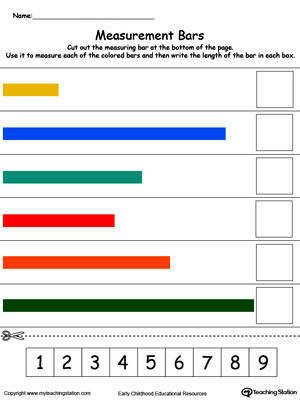 Practice linear measurement reading scales and writing numbers with this printable worksheet