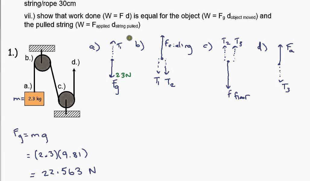 Pulley Worksheet 2 Example 1