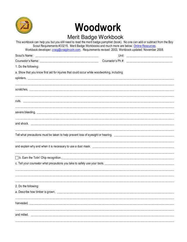 Merit Badge Worksheets Homeschooldressage Com