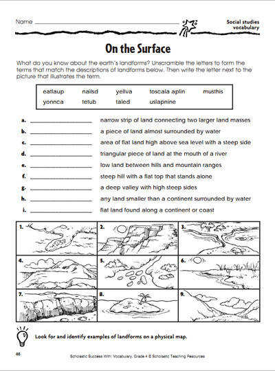 Free 6th Grade Earth Science Worksheetsml Earthquake Word Hunt
