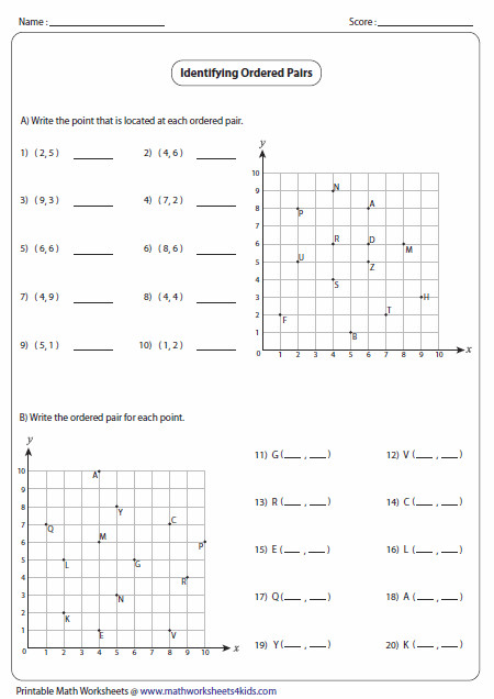 Printables Coordinate Plane Worksheets Middle School ordered pairs and coordinate plane worksheets identifying pairs