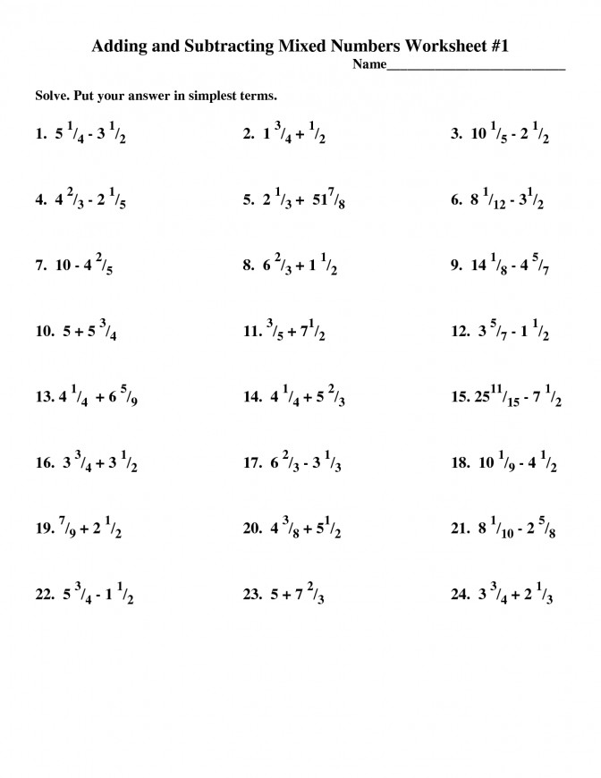 Multiplying Mixed Fractions Worksheet Improper And Numbers Free Worksheets Adding Subtracting Number Worksheets 1 Multiplying Mixed