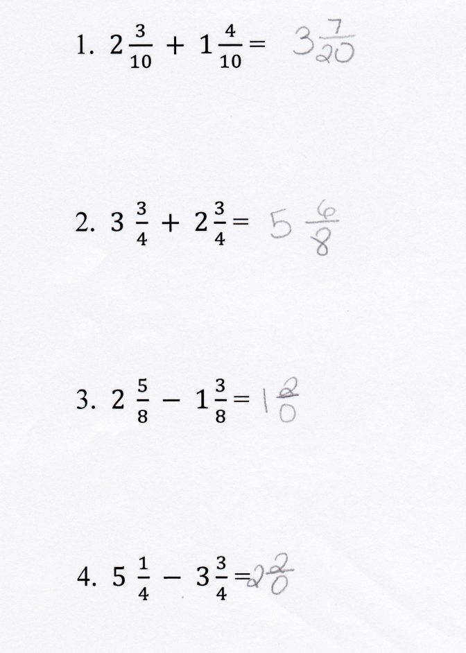 Adding And Subtracting Mixed Numbers Students Are Given Pairs Fractions Printable Worksheets Mfas Addingandsubtractingmixednumbers I