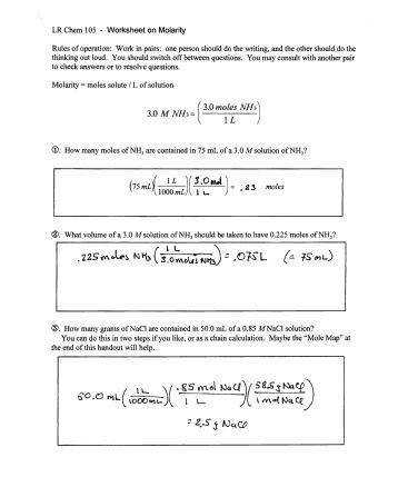 Molar Mass Practice Worksheet by Molar Mass Practice Worksheet