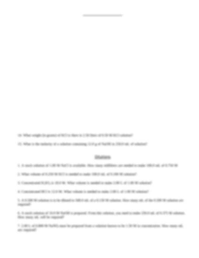 Molarity Problems Worksheet Homeschooldressage Com