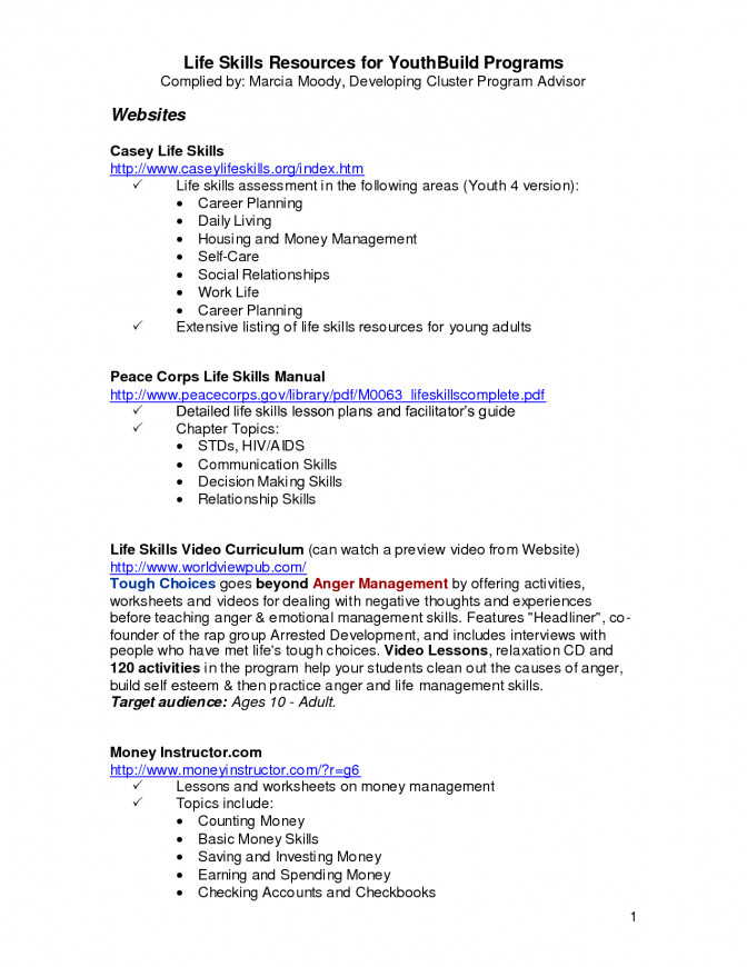 Free Life Skills Lesson Plans Special Education Ronemporium Worksheets For Highschool Stu Money Management Lesson
