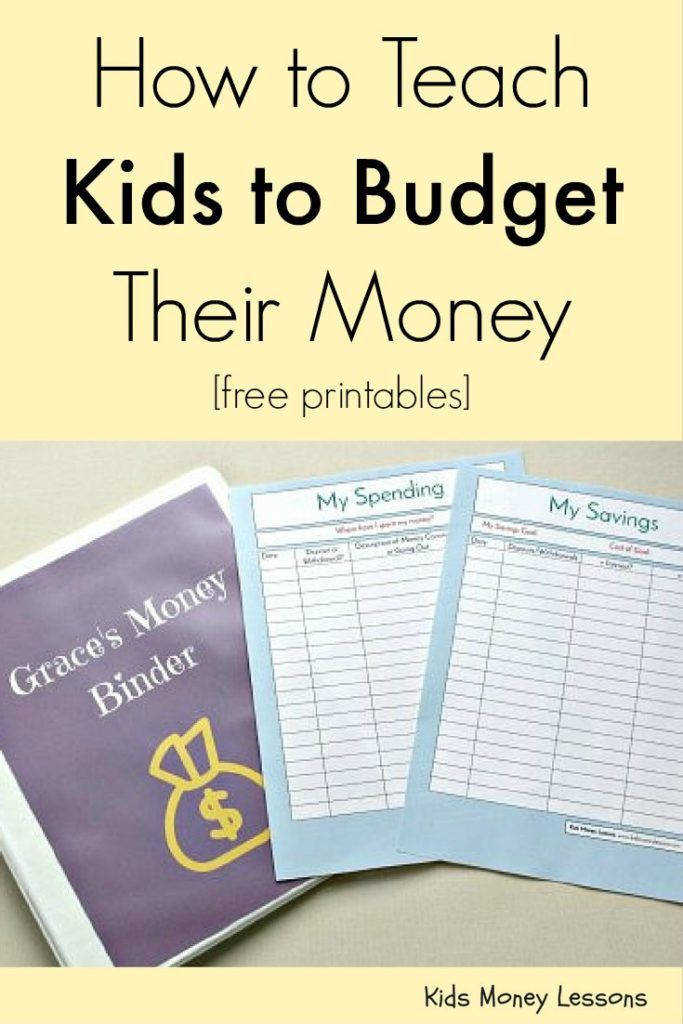 How to Teach Kids to Bud Their Money Free Printables