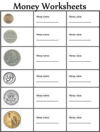 Counting money · Math worksheets free