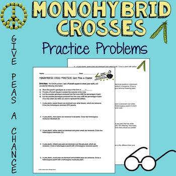 Monohybrid Cross Practice Give Peas a C